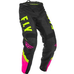 Pantalon cross F-16 RIDING NEON PINK BLACK HI-VIS 2020 Pink/Black