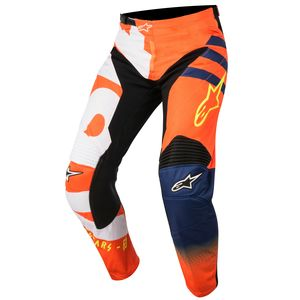 Pantalon cross RACER BRAAP ORANGE FLUO DARK BLUE WHITE ENFANT   Orange/Blue
