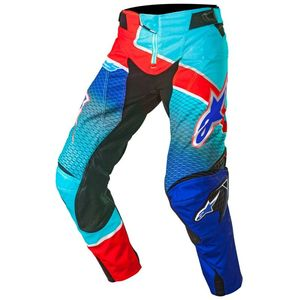 Pantalon Cross Alpinestars Techstar Venom Blue Cyan Red 2017