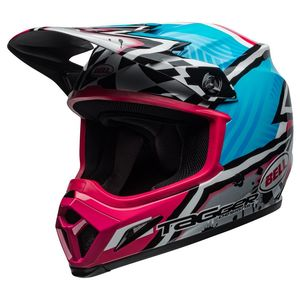 Casque cross MX-9 MIPS TAGGER ASYMMETRIC BLUE/PINK 2019 Blue/Pink