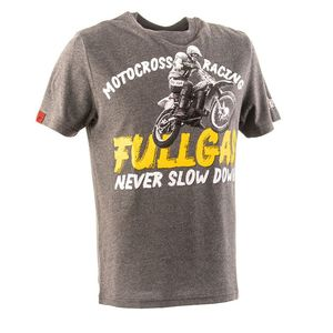 T-Shirt manches courtes FULLGAS RETRO  Heather Grey