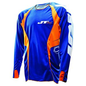 Maillot Cross Jt Evo Lite Race Kid Bleu Orange