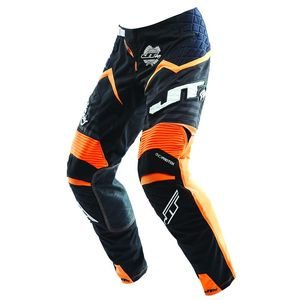 Pantalon Cross Jt Evo Protek Fader Noir Orange