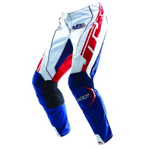 Pantalon Cross Jt Evo Lite Race Kid Blanc Bleu