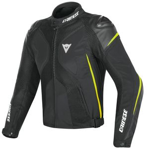Blouson SUPER RIDER D-DRY  Black/Black/Yellow
