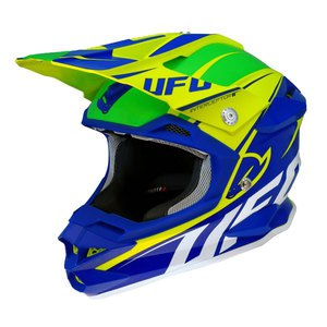 Casque Cross Ufo Interceptor Ii - Bleu Vert 2016