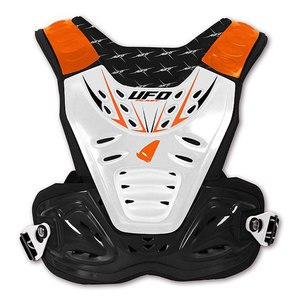 Plastron REACTOR 2 EVO KID  Noir/Blanc/Orange