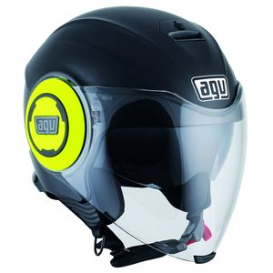 Casque Agv Fluid - Matt Black Yellow