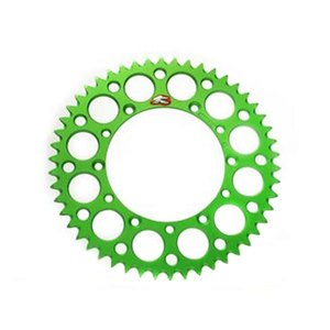 Couronne Ultra light Anodise vert Anti boue 49 dents