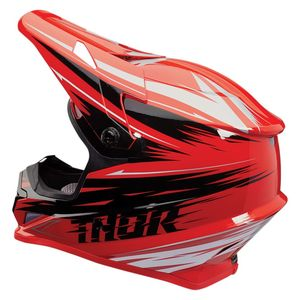 Casque cross SECTOR - WARP - RED BLACK 2020 Rouge/Noir