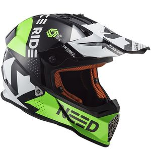 Casque cross MX437 - BLOCK - BLACK GREEN 2019 Black Green