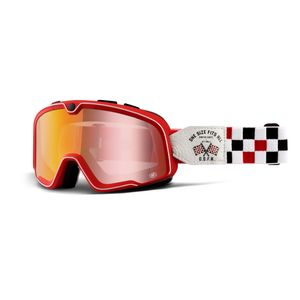 Lunettes moto BARSTOW - OSFA 2 - ECRAN ROUGE  Rouge