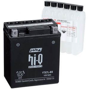 Batterie YTX7L-BS avec pack acide