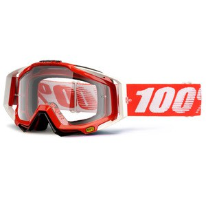 Masque cross RACECRAFT FIRE RED CLEAR 2020 Rouge