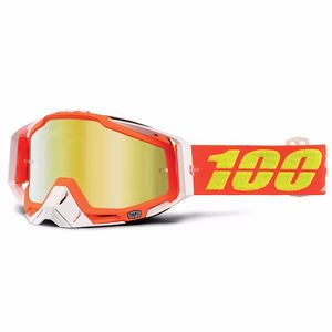 Masque cross RACECRAFT - RAZMATAZ - ECRAN IRIDIUM -  2018 Orange/Blanc