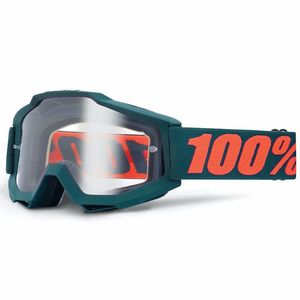 Masque Cross 100% Accuri Special Otg - Gun Metal - Ecran Clair - 2018