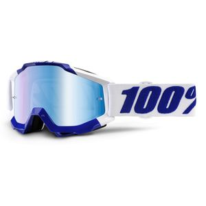 Masque Cross 100% Accuri - Calgary - Ecran Iridium Bleu 2018