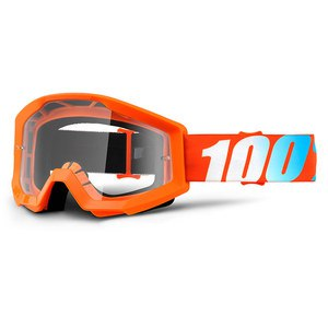 Masque Cross 100% Strata Junior - Orange - Ecran Clair - 2018