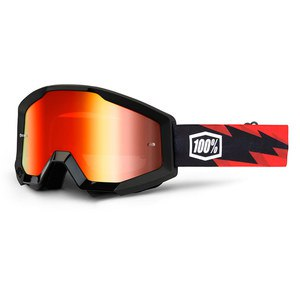 Masque cross STRATA - SLASH - ECRAN IRIDIUM - 2020 Noir/Rouge
