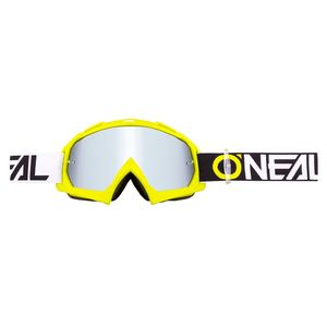 Masque cross B-10 - TWOFACE  - NEON YELLOW - CLEAR & IRIDIUM SILVER 2020 Jaune Fluo