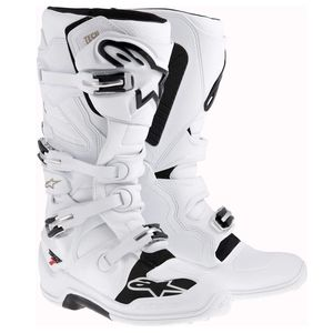 Bottes cross TECH 7 - WHITE 2021 Blanc
