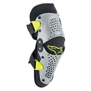 Genouillères SX-1 YOUTH  Silver Yellow Fluo