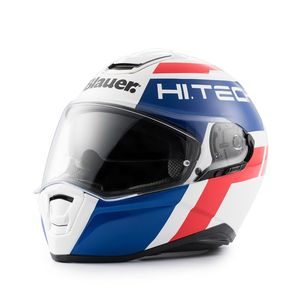 Casque FORCE ONE 800 BRILLANT  Blanc/Bleu