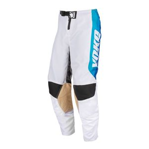 Pantalon cross SKIDI YOUTH WHITE/BLUE/BLACK  Blanc/Bleu/Noir