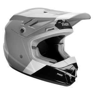 Casque cross YOUTH SECTOR BOMBER - CHARCOAL WHITE - MIPS  Noir Gris