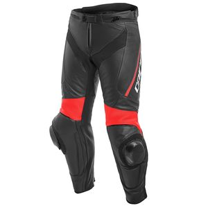 Pantalon DELTA 3 LEATHER  Black/Black/Red