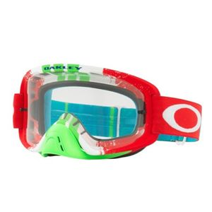Masque cross O Frame 2.0 Pinned Race Red/Green écran transparent 2021 Rouge/Vert
