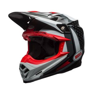 Casque Cross Bell Moto-9 Flex Vice Noir/blanc/rouge 2018