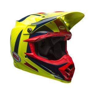 Casque Cross Bell Moto-9 Flex Vice Bleu/jaune/rouge 2018