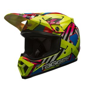 Casque cross MX-9 MIPS TAGGER DOUBLE TROUBLE HI-VIZ 2018 Jaune