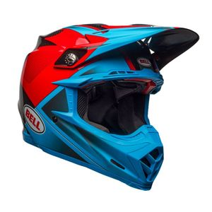 Casque Cross Bell Moto-9 Carbon Flex Bleu/rouge 2018