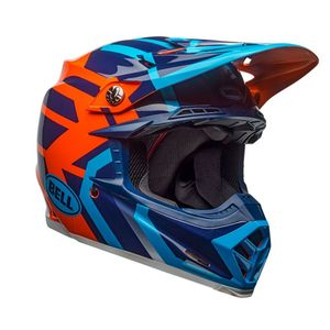 Casque cross MOTO-9 MIPS DISTRICT BLEU/ORANGE 2018 Bleu/Orange