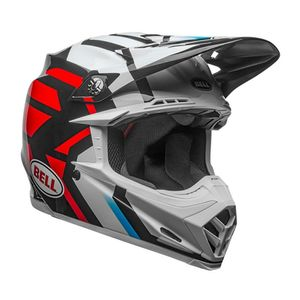 Casque Cross Bell Moto-9 Mips District Blanc/noir/rouge 2018