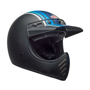 Casque MOTO-3 STRIPES  Gris/Noir