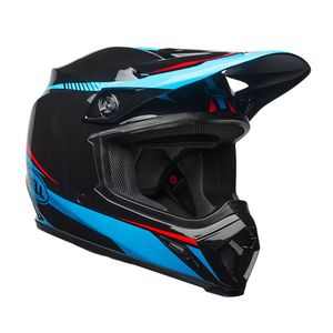 Casque Cross Bell Mx-9 Mips Torch Noir/bleu/rouge 2018