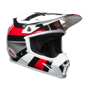 Casque Cross Bell Mx-9 Mips Marauder Blanc/noir/rouge 2018