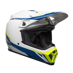 Casque Cross Bell Mx-9 Mips Torch Blanc/bleu/jaune 2018