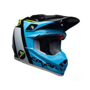 Casque Cross Seven Flight Bleu/noir 2018