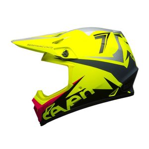 Casque Cross Seven Mx-9 Mips Ignite Jaune Fluo 2018