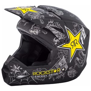 Casque cross ELITE ROCKSTAR - MATTE BLACK GREY 2019 Noir/Jaune