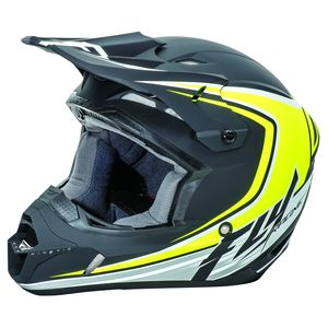 Casque cross KINETIC FULL SPEED - NOIR JAUNE FLUO (mat) - 2017 Noir/Hi-visibility