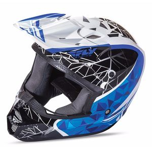 Casque cross KINETIC CRUX - NOIR BLEU BLANC - 2017 Noir/Bleu