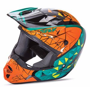 Casque cross KINETIC CRUX - NOIR ORANGE BLEU - 2017 Bleu/Orange