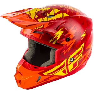 Casque Cross Fly Kid Kinetic - Shocked - Red Yellow 2019