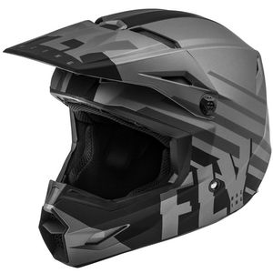 Casque cross KINETIC THRIVE MATTE DARK GREY BLACK ENFANT  Grey/Black