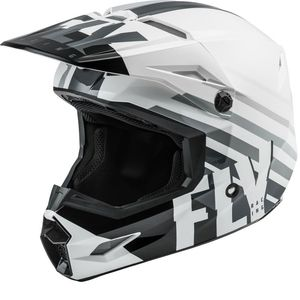 Casque cross KINETIC THRIVE WHITE BLACK GREY ENFANT  White Black
